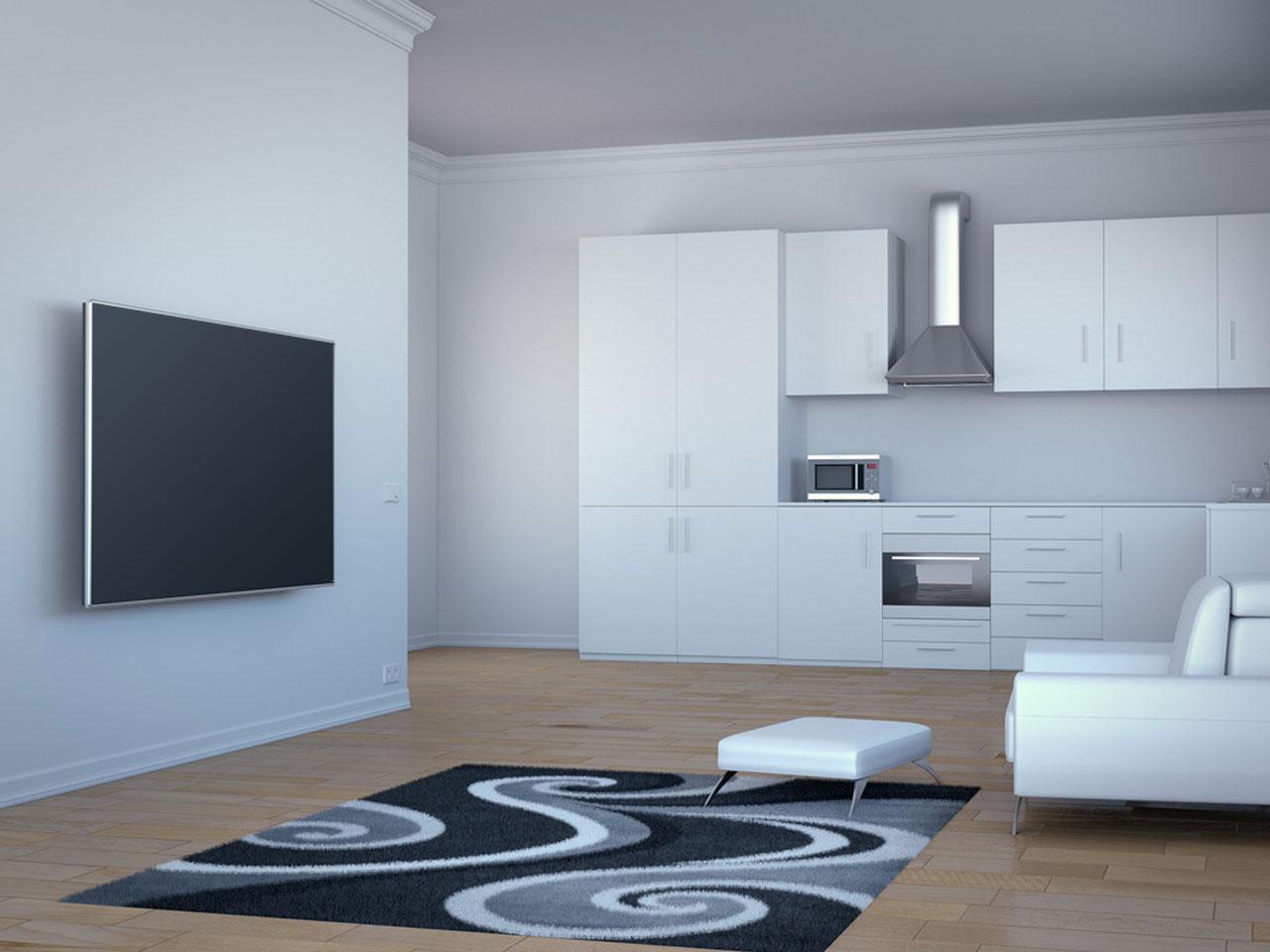 ... Vorschau: Aufbaubeispiel Flexarm PRO SD Full Motion TV Wandhalter  55 110 Zoll ...