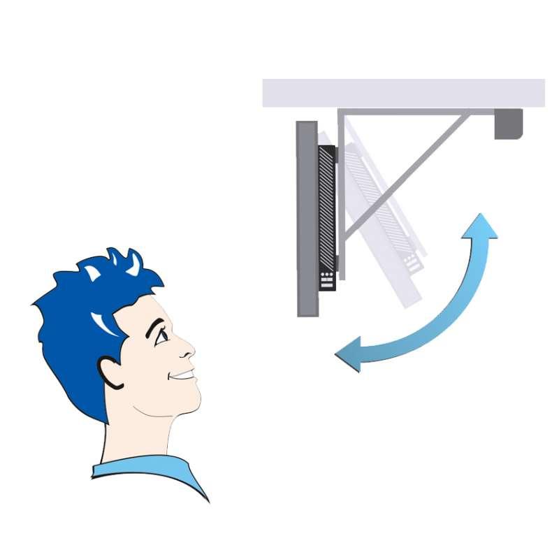 Klappbare TV Deckenhalter