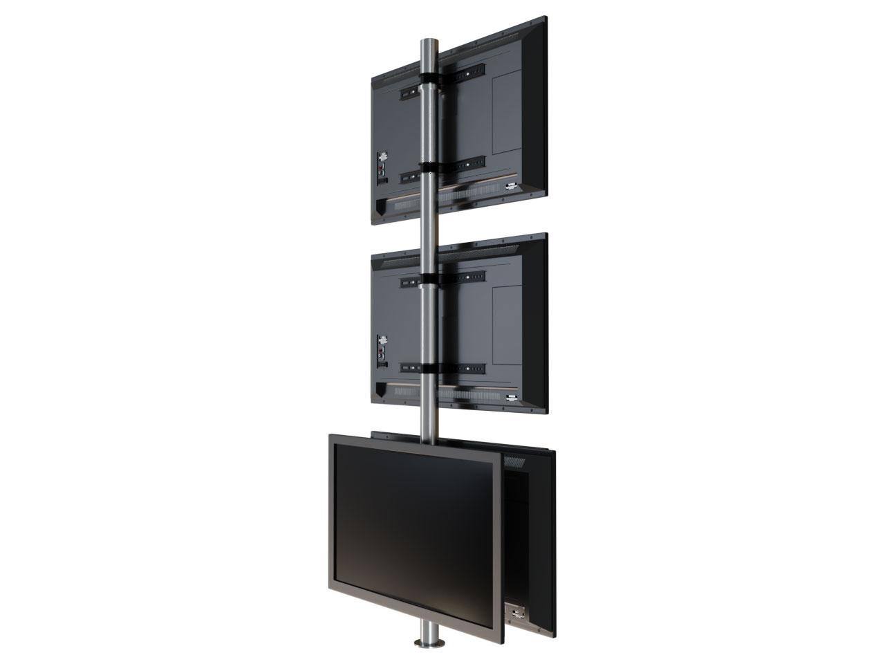 Design tv  Drehbare Design TV Säule für bis zu 6 TV Halterung zur Bodenmontage ...