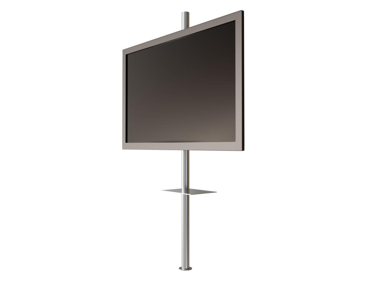 drehbare design tv s ule f r bis zu 6 tv halterung zur bodenmontage mit 360 grad drehbereich. Black Bedroom Furniture Sets. Home Design Ideas