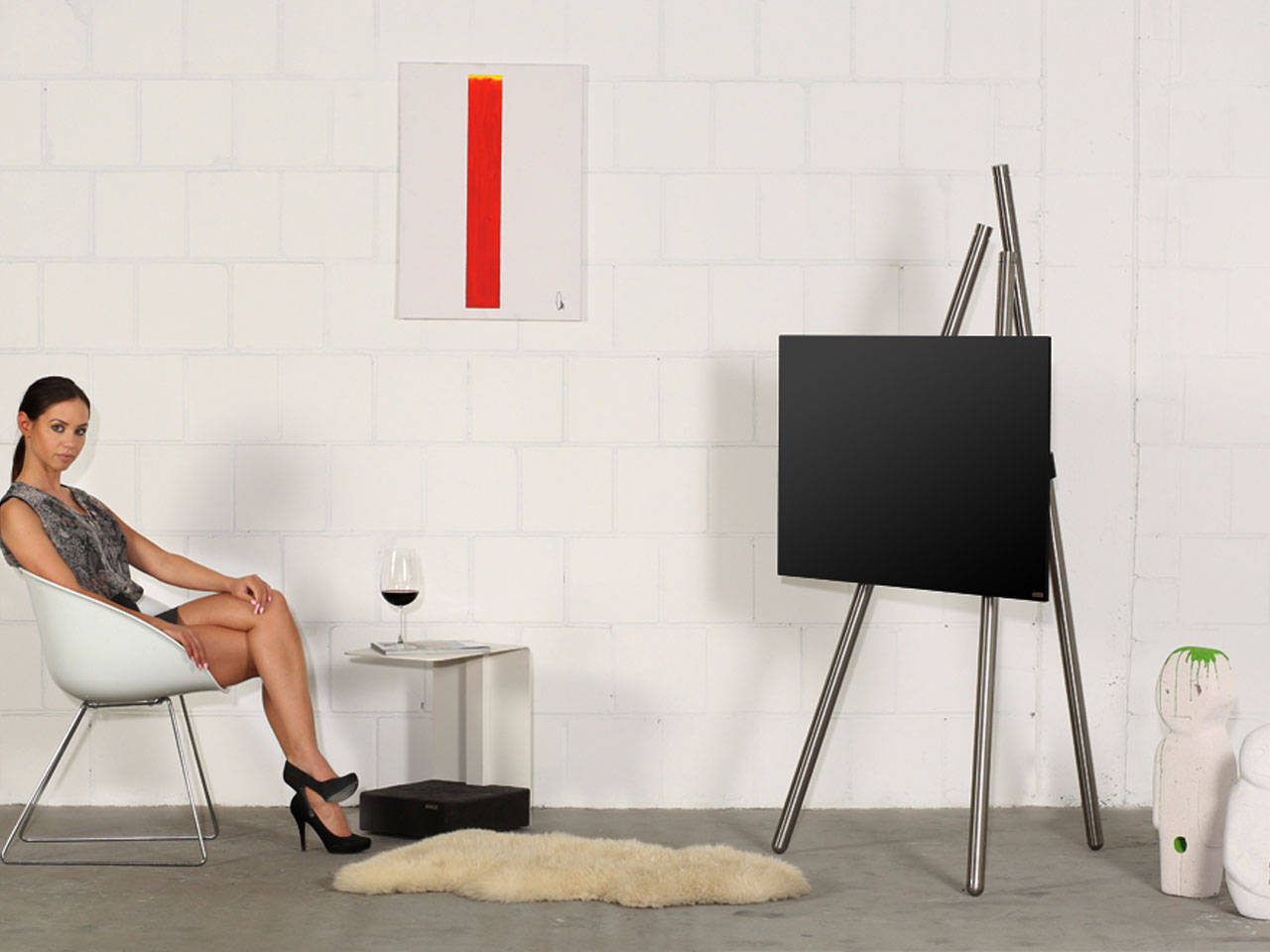 wissmann tv halter tv halter solution art121 produktdesign wissmann raumobjekte wissmann tv. Black Bedroom Furniture Sets. Home Design Ideas