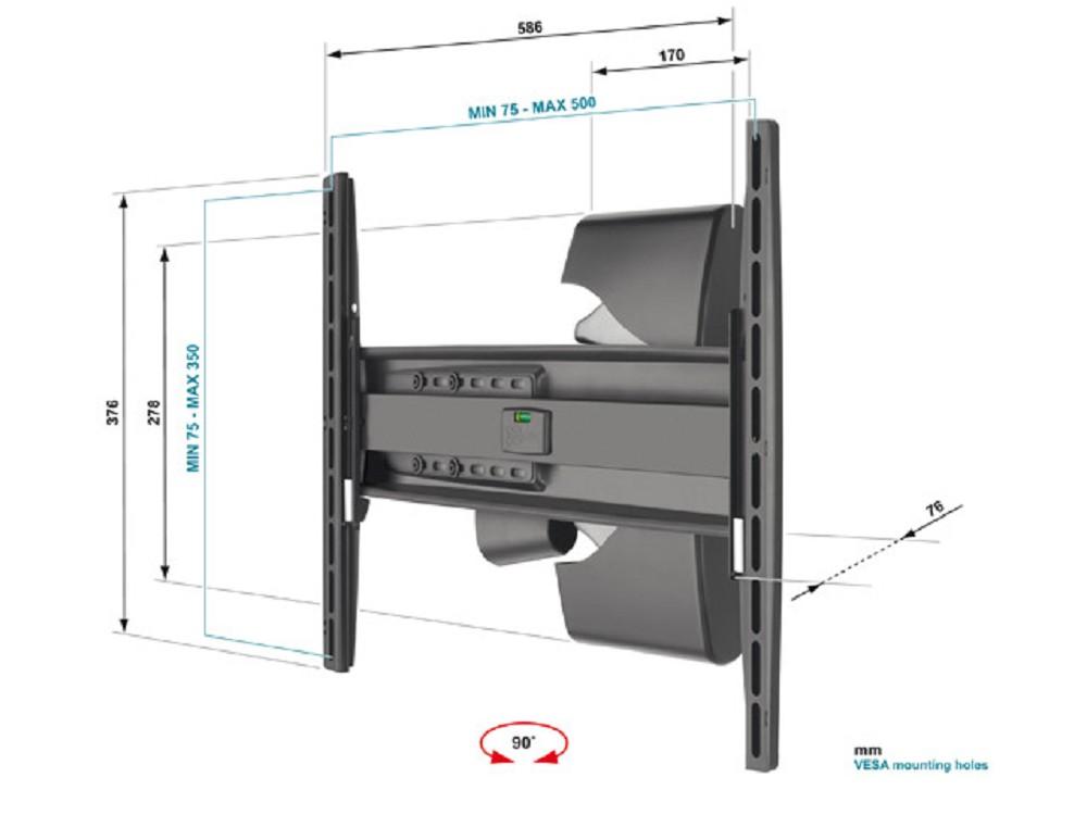 wandhalter motion f r lcd plasma fernseher efw8x25 g nstig kaufen cmb systeme. Black Bedroom Furniture Sets. Home Design Ideas