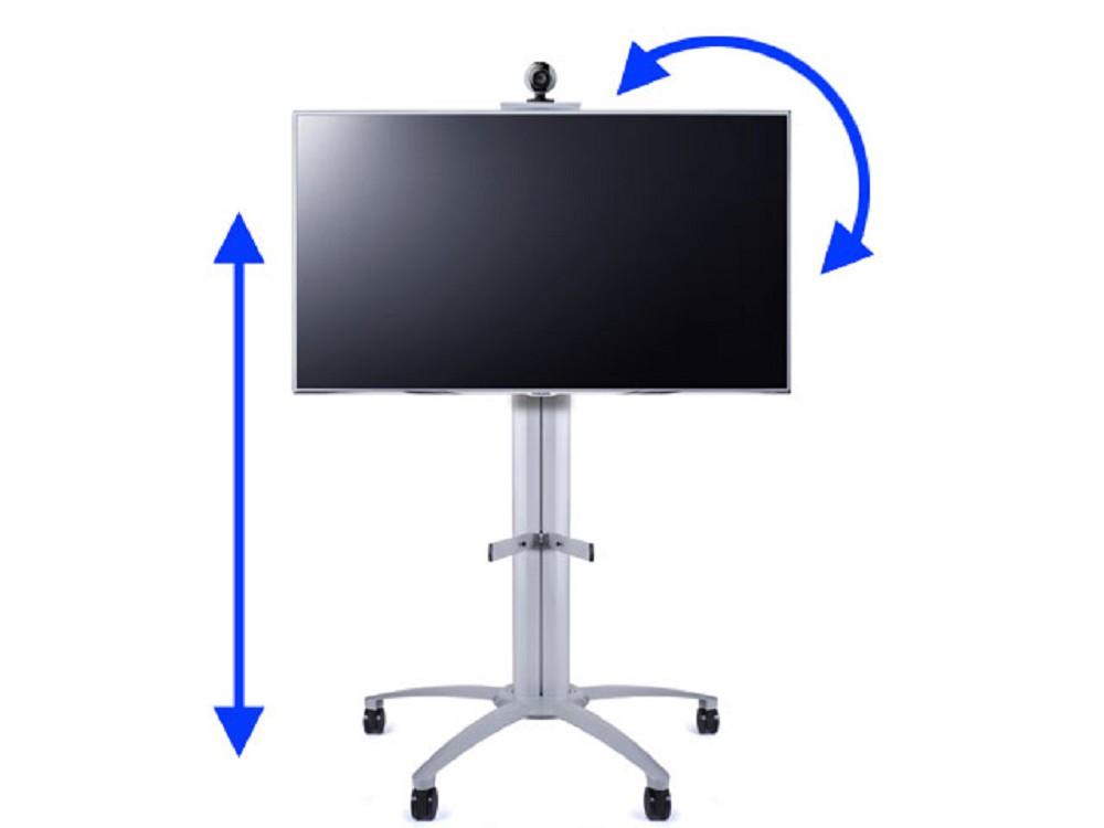 rollbarer tv standfu 46 63 zoll bis 180cm h henverstellbar g nstig kaufen cmb systeme. Black Bedroom Furniture Sets. Home Design Ideas