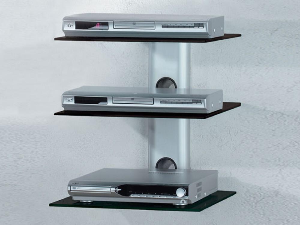 vcm trento 3 kabelkanal silber mit schwarzglas avhalterung g nstig tv kabelverkleidung. Black Bedroom Furniture Sets. Home Design Ideas