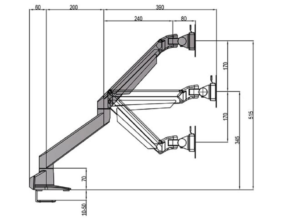 gasdruck monitorhalterung 14 32 zoll m vesa single g nstig kaufen cmb systeme. Black Bedroom Furniture Sets. Home Design Ideas