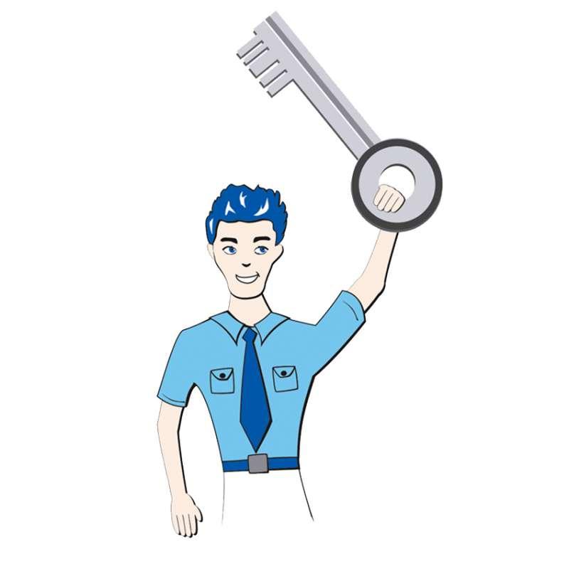 Ersatzschlüssel kann nachbestellt werden
