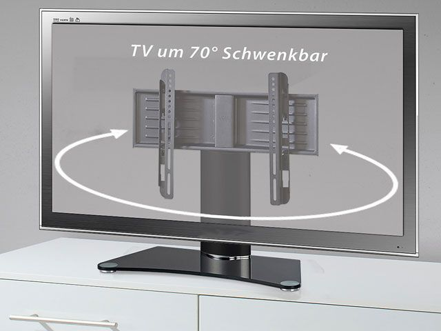 vcm tv tisch standfu sf 100 70 schwenkbar cmb systeme. Black Bedroom Furniture Sets. Home Design Ideas