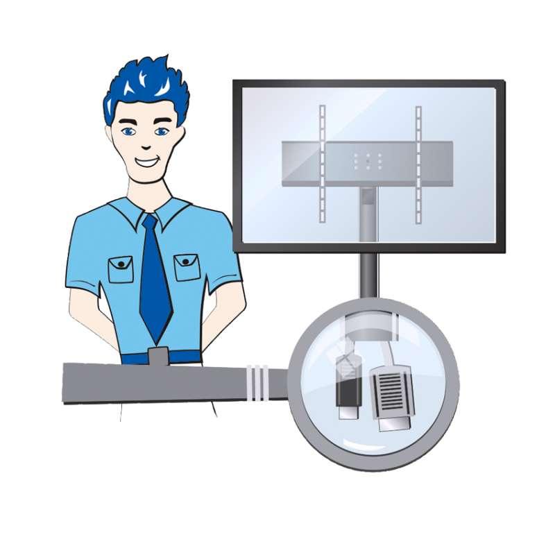 TV Wandhalterung mit einem Kabelmanagementsystem