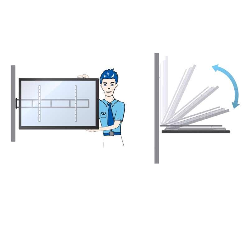 Flexible Einstellung der Bildschirmhöhe