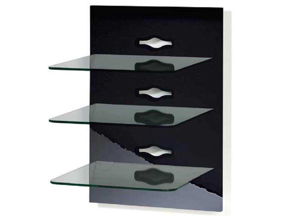 Hifi rack wand  VCM Xeno-3 Schwarzlack Schwarzglas - Klarglas Wandpaneele günstig ...