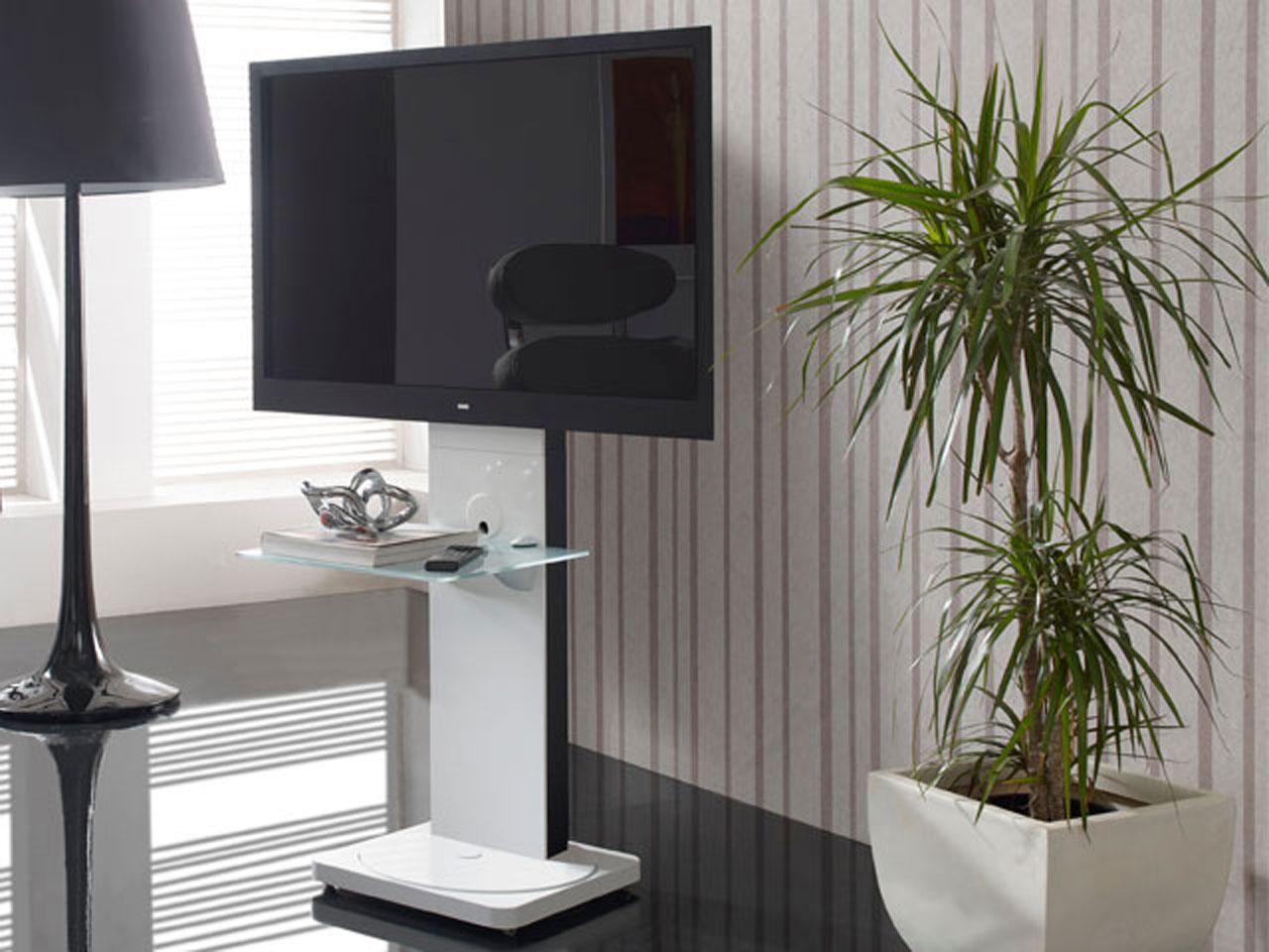 wei er drehbarer design tv st nder cmb 101 23 65 zoll. Black Bedroom Furniture Sets. Home Design Ideas