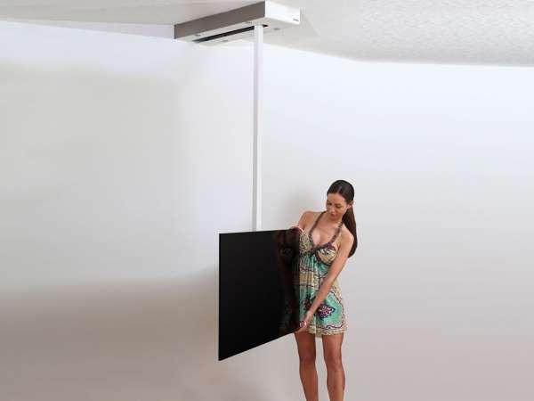 deckenhalterung tv schienensystem