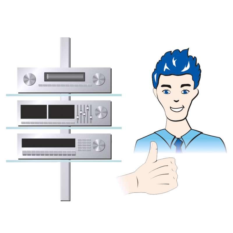 Modernes Kabelmanagement mit passenden Ablagen