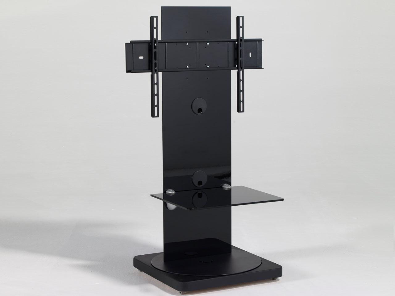 schwarzer drehbarer design tv st nder cmb 101 23 65 zoll. Black Bedroom Furniture Sets. Home Design Ideas
