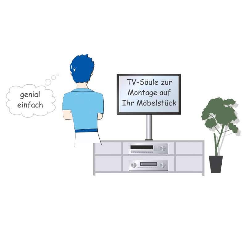 TV Säule zur Montage auf Ihr Möbelstück